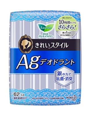 """KAO """"Laurier Beautiful Style"""" Ежедневные гигиенические прокладки, с содержанием серебра для удаления запаха  14 см"""