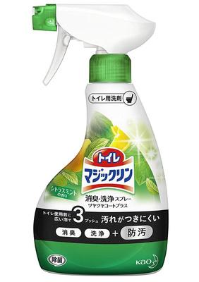 KAO Спрей-пенка для мытья туалета с ароматом мяты и цитруса  Bath Magiclean 380 мл