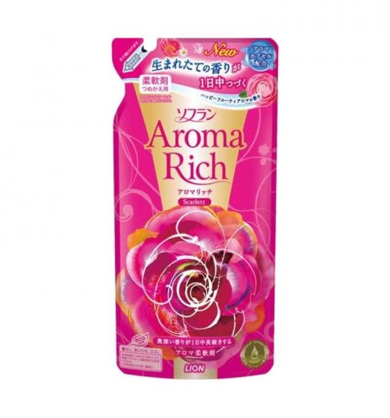 """LION Aroma Rich Кондиционер для белья """"Scarlett"""" с цветочно-фруктовым ароматом,запасной блок 450 мл"""