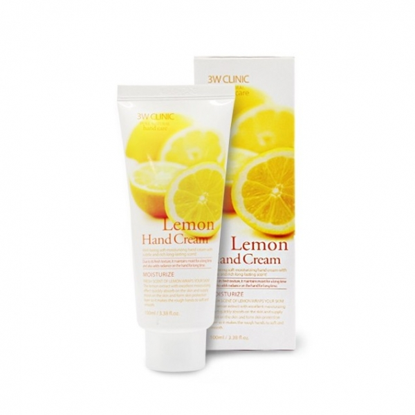 3W Clinic Limon Hand Cream Крем для рук увлажняющий с экстрактом лимона 100 мл