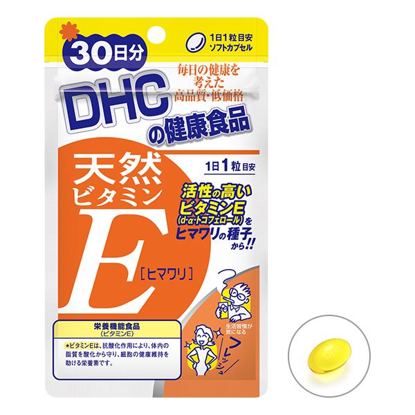 DHC Натуральный витамин Е из высококачественного подсолнечного масла № 30