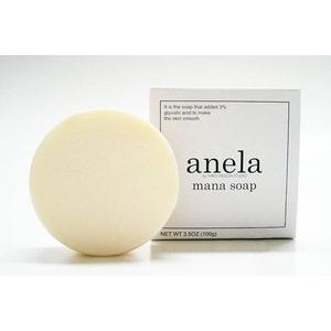 Мыло с гликолевой кислотой 3% Anela Mana Soap с сеточкой для умывания 100 г