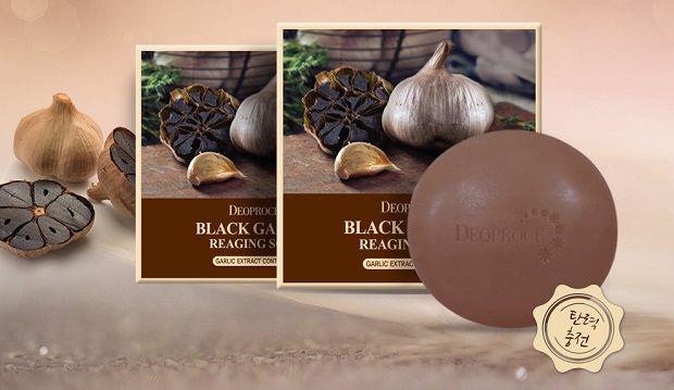 Мыло с экстрактом черного чеснока DEOPROCE SOAP BLACK GARIC 100 гр