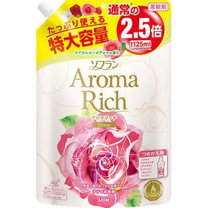 LION Aroma Rich Кондиционер для белья Diana мягкая упаковка 1125 мл