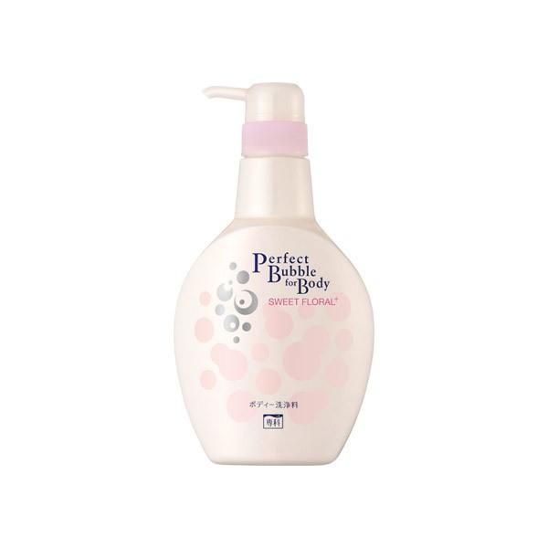 SHISEIDO SENKA Perfect Bubble Дезодорирующий гель для душа с эффектом увлажнения с гиалуроновой кислотой со сладким цветочным ароматом