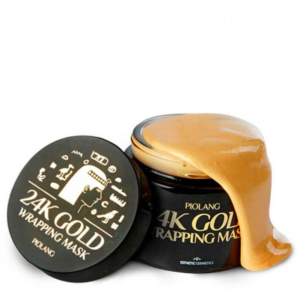Маска для лица Esthetic House Piolang 24k Gold Wrapping Mask с 24 каратным золотом 80 мл.