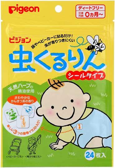 Pigeon Пластырь защищающий от насекомых для детей с рождения 24 шт