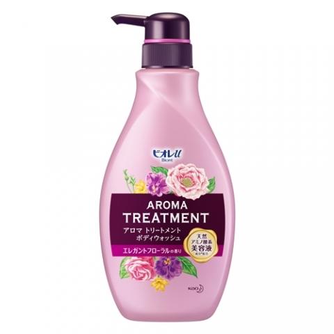 KAO Biore Aroma Time Увлажняющий и смягчающий гель для душа с ароматом цветов 480 мл