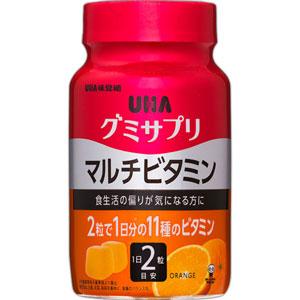 UHA Gummy Supple Multivitamin жевательные мультивитамины с коллагеном со вкусом апельсина № 60