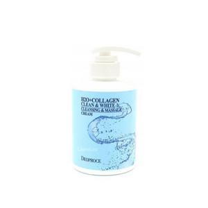 Deoproce H2O+Collagen Clean & White Cleansing & Massage Cream крем для тела массажный очищающий с коллагеном 450 мл