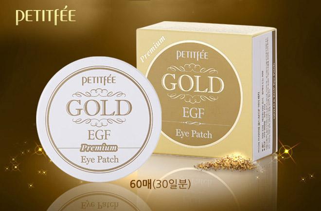 Гидрогелевые патчи для век с золотыми частицами и фактором роста EGF Petitfee Gold & EGF Eye & Spot Patch