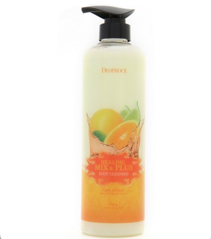 Гель для душа лимон и цитрус DEOPROCE HEALING MIX & PLUS BODY CLEANSER LIME CITRUS 750 гр