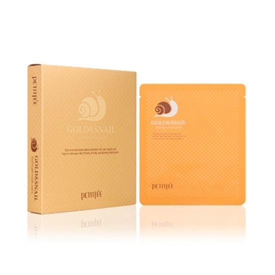Гидрогелевая маска с золотом и улиточным муцином Petitfee Gold & Snail Hydrogel Mask Pack