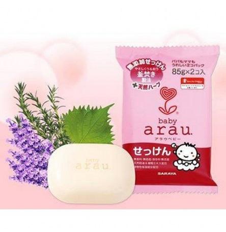 Туалетное мыло для малышей Saraya Arau Baby (2 шт в единой мягкой упаковке) 85 г