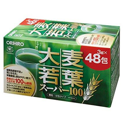 Зеленый сок Аодзиру с листьями ячменя Orihiro Super 100 № 48
