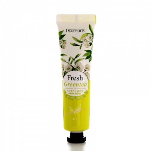 Крем для рук парфюмированный DEOPROCE FRESH GREENTEA PERFUMED HAND CREAM 30 гр