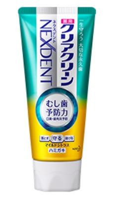Лечебно-профилактическая зубная паста против бактерий и неприятного запаха KAO Clear Clean NEXDENT Mild Citrus цитрусовый вкус 130 гр