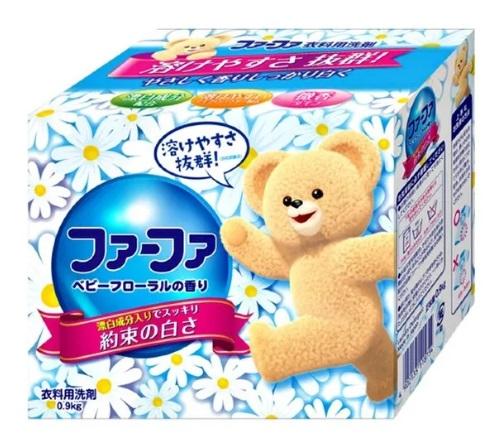 Концентрированный cтиральный порошок с кондиционером для детского белья NISSAN Soap FaFa Цветочный 900 гр
