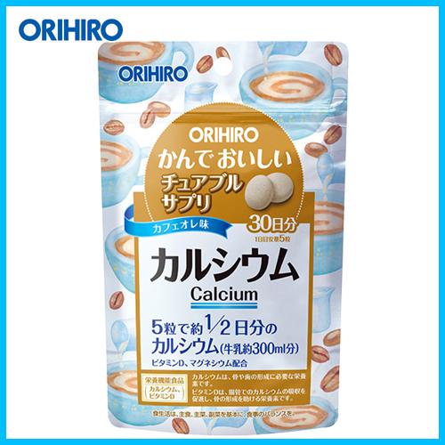 ORIHIRO Кальций жевательные таблетки вкус кофе с молоком № 150