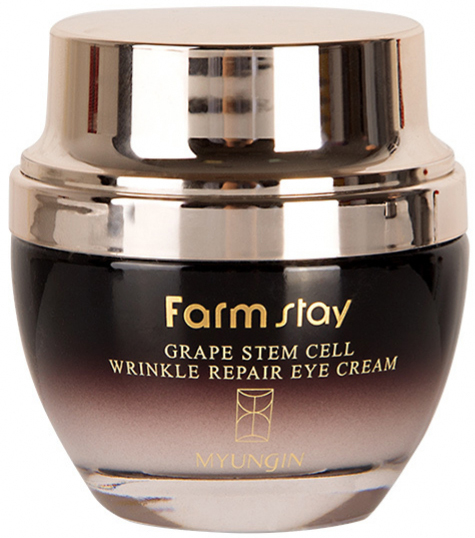 Восстанавливающий разглаживающий крем для глаз с фито-стволовыми клетками винограда FarmStay Grape Stem Cell Wrinkle Repair eye Cream 50 мл