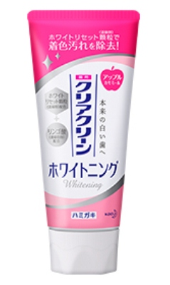 Зубная паста с отбеливающим эффектом и антибактериальным действием KAO Clear Clean Whitening Apple CST с ароматом яблока 120 гр