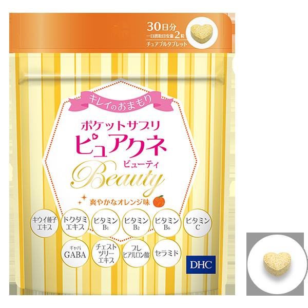 DHC Puakune Beauty жевательные витамины для красоты со вкусом персика № 60