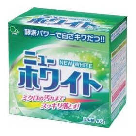 Стиральный порошок Mitsuei New White с отбеливателем и ферментами для удаления стойких загрязнений 0,9 кг 1/10