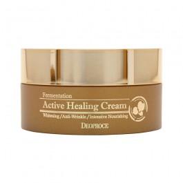 Кислородный крем против морщин Deoproce fermentation active healing cream 100 гр