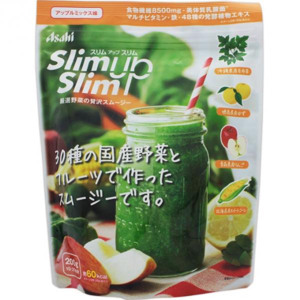 Протеиновый фруктово-овощной смузи Asahi SlimUpSlim с коллагеном и пищевыми волокнами замена одного приема пищи со вкусом яблока 300 гр