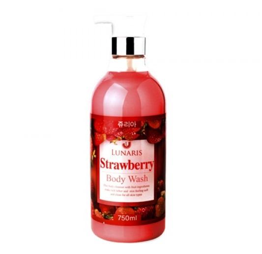 Гель для душа с клубникой LUNARIS Body Wash Strawberry 750 мл