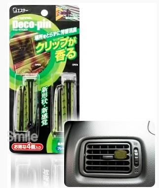 Ароматизатор-поглотитель неприятных запахов с ароматом свежего луга ST CARENNE DECO-PIN для установки на дефлектор 200 гр