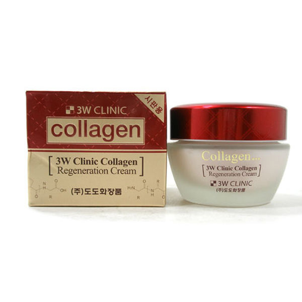 Лифтинг крем для лица 3W CLINIC с коллагеном регенерирующий Collagen Regeneration Cream 60 мл