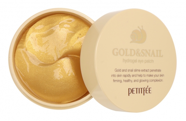 Гидрогелевые патчи для глаз с золотом и муцином улитки Petitfee Hydro Gel Eye Patch Gold № 60