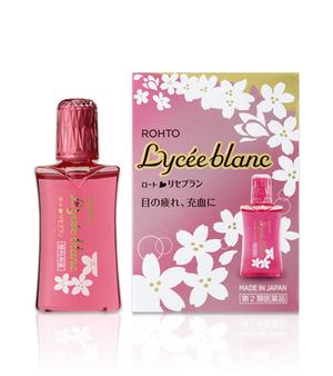 ROHTO Lycee Blanc  Японские глазные капли для снятия красноты и отбеливания белков глаз с бергамотом