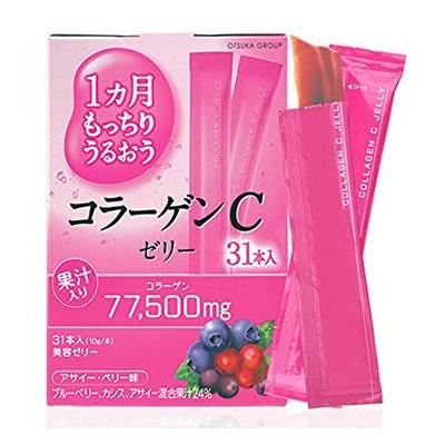 Коллаген пептид с протеогликанами Otsuka Collagen C Jelly желе со вкусом лесных ягод 31 стик