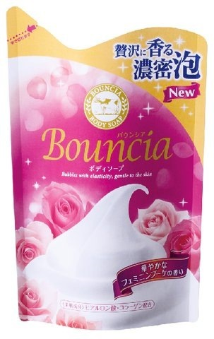 Мыло жидкое для тела Milky Body Soap Bouncia увлажняющее, со сливками и коллагеном  цветочный аромат 430 мл