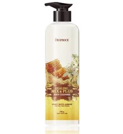 BODY Гель для душа мед и жасмин DEOPROCE HEALING MIX & PLUS BODY CLEANSER HONEY WHITE JASMINE 750 гр