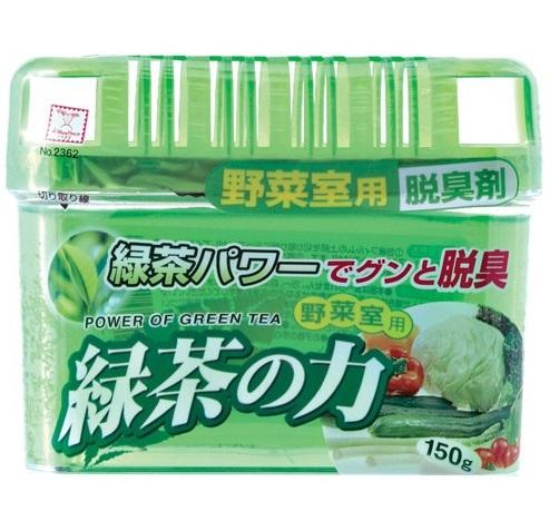 Дезодорант-поглотитель неприятных запахов KOKUBO экстракт зелёного чая для холодильников (овощная кам) 150 г