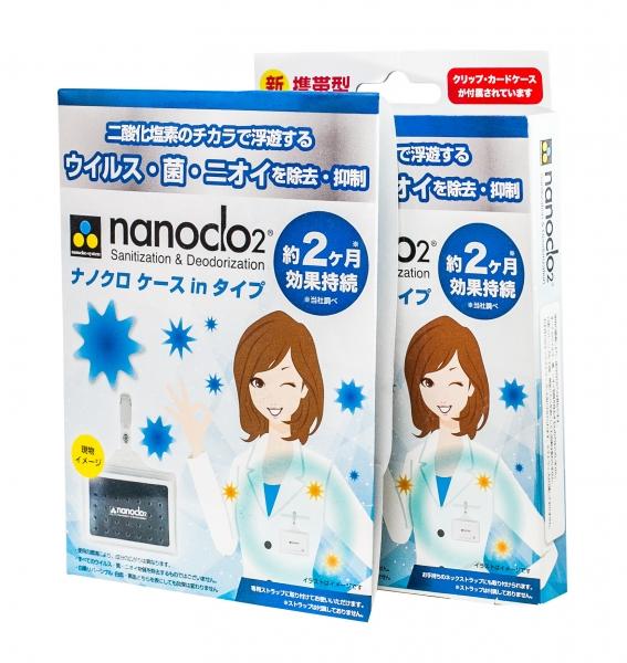 Блокатор вирусов NANOCLO2 сэт 4 шт с бейджем
