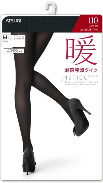 Колготки Atsugi теплосберегающие бархатные 110 ден 1 пара размер S-M